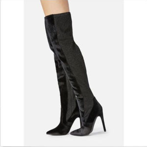 Just Fab Freya Over the Knee Boots Size 8.5